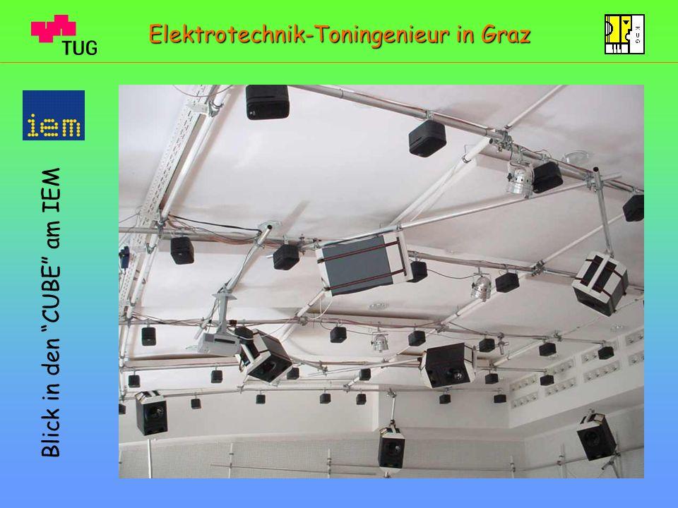 Blick in den CUBE am IEM Elektrotechnik-Toningenieur in Graz