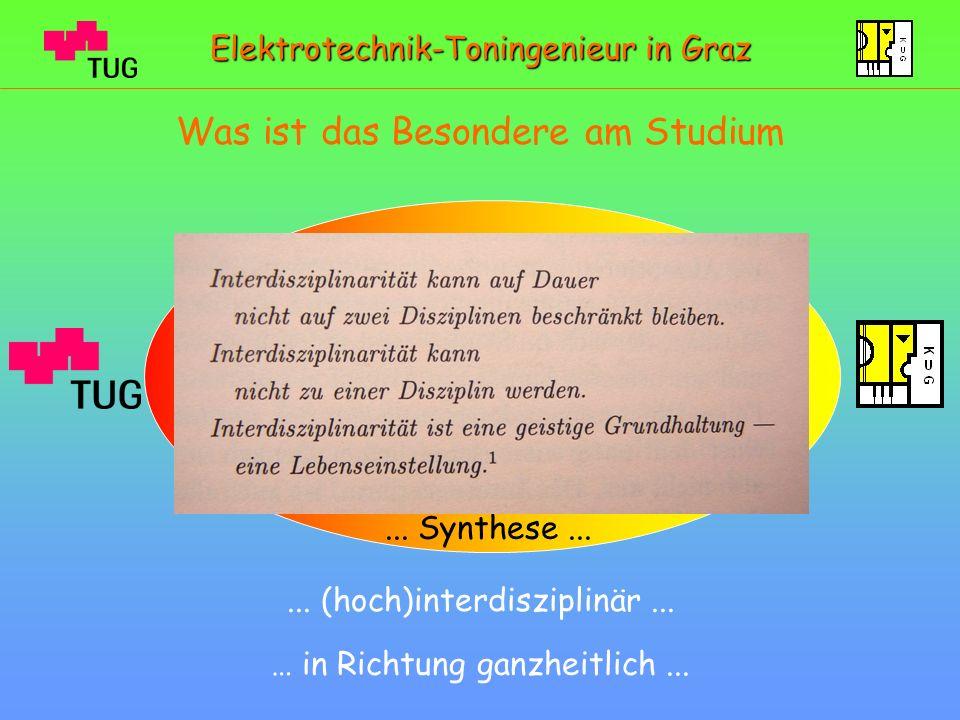 Blick ins Lehrstudio am IBK Elektrotechnik-Toningenieur in Graz