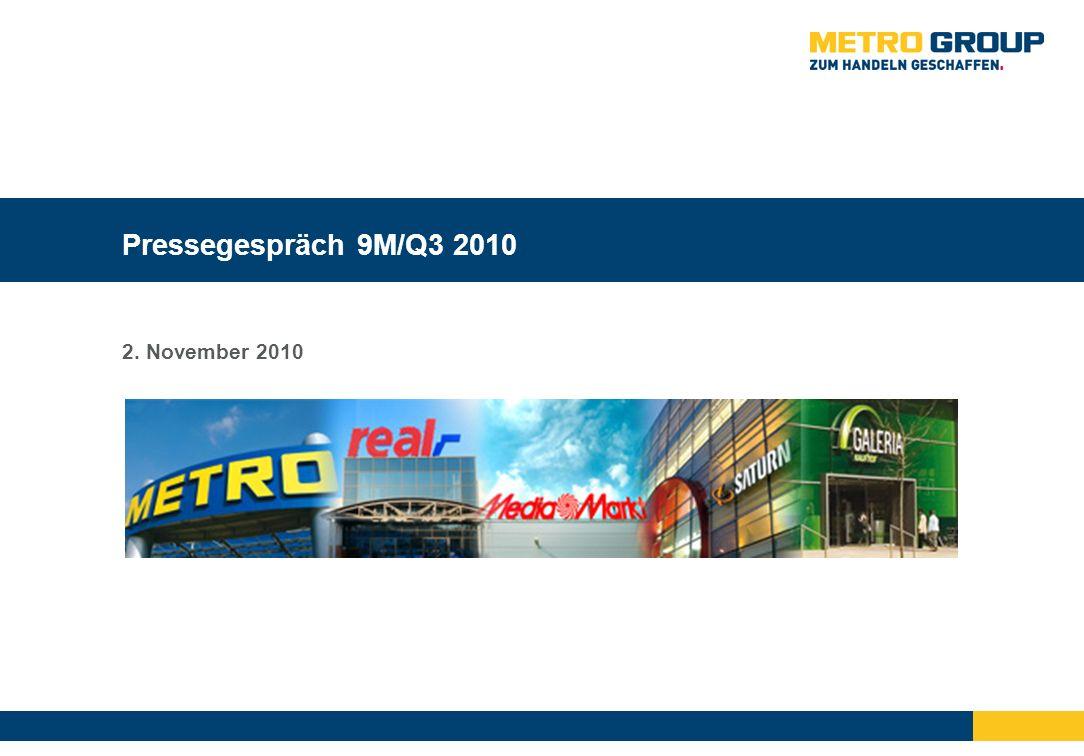 Pressegespräch 9M/Q3 2010 2. November 2010