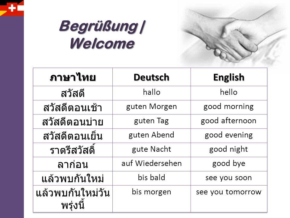 Begrüßung | Welcome