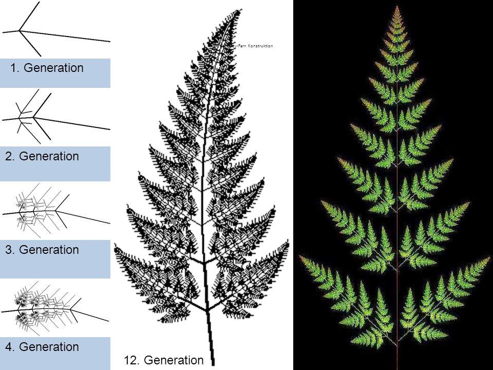 Nature Fractal 1. Generation 2. Generation 3. Generation 4. Generation 12. Generation Barnsley-Farn Konstruktion