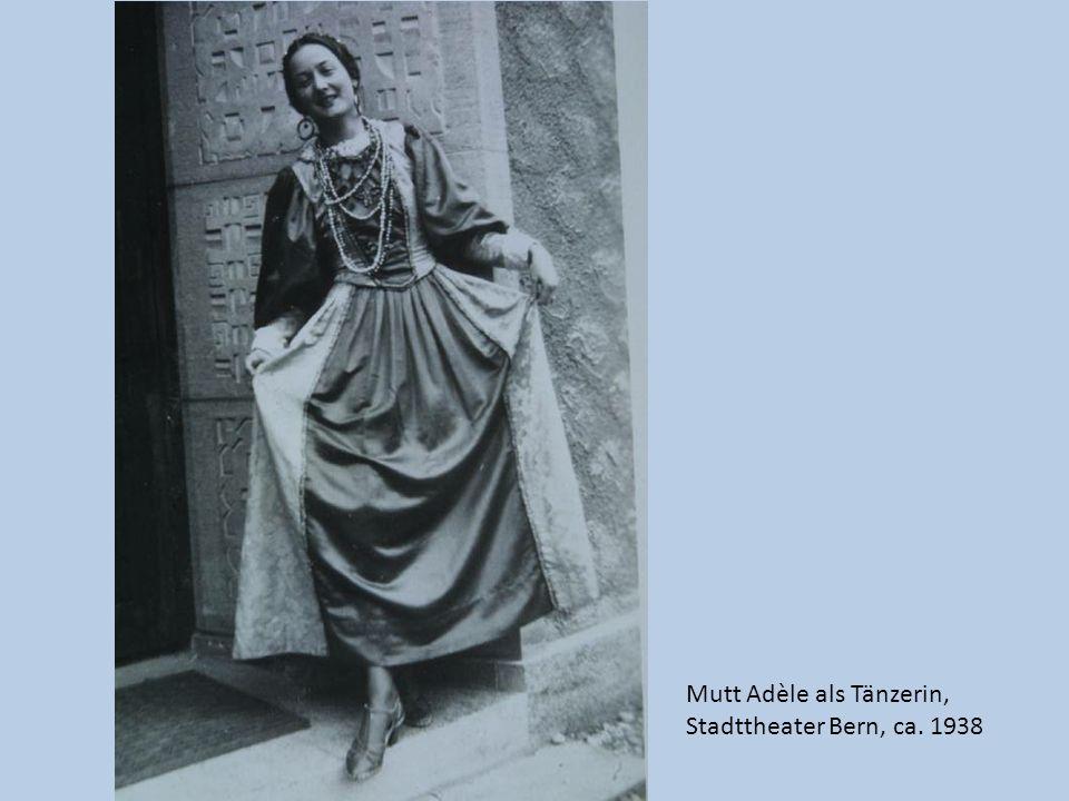 Mutt Adèle als Operndiva Stadttheater Bern, ca. 1938