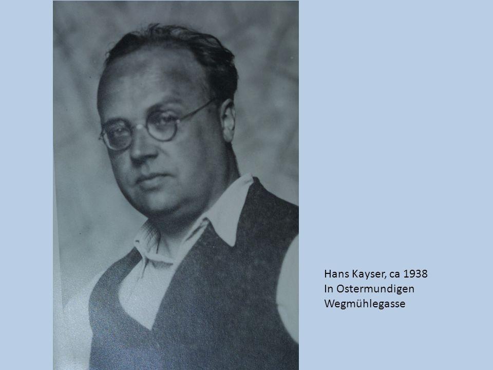 Hans Kayser, ca 1938 In Ostermundigen Wegmühlegasse