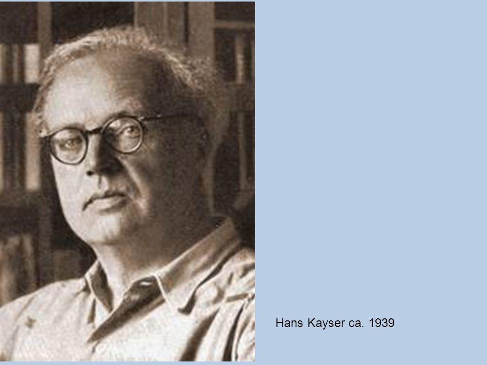 Hans Kayser ca. 1939