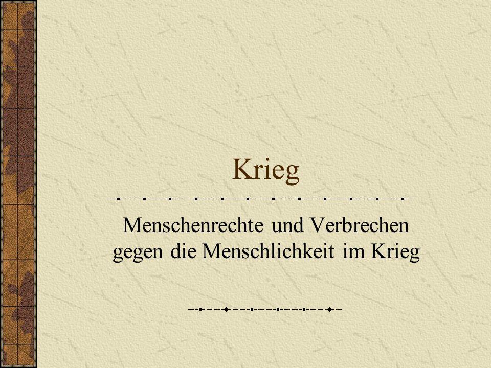 Inhaltsangaben 1.Genfer Abkommen (1864) Haager Konvention (1907) 1.Weltkrieg (1914-1918) 2.Weltkrieg (1939-1945) Genfer Konvention (1949) 3.
