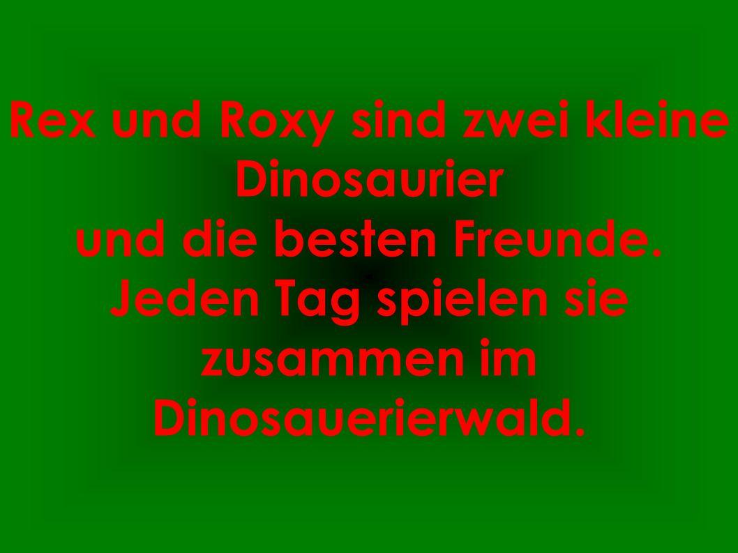 Rex und Roxy sind zwei kleine Dinosaurier und die besten Freunde. Jeden Tag spielen sie zusammen im Dinosauerierwald.
