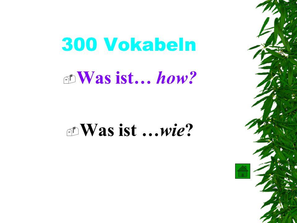 200 Vokabeln Was ist… who? Was ist… wer ?