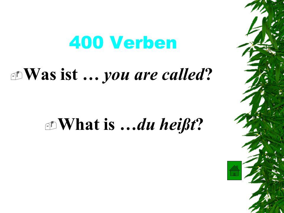 300 Verben Was ist… I am? Was ist …ich bin?
