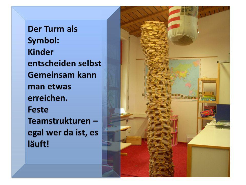 Der Turm als Symbol: Kinder entscheiden selbst Gemeinsam kann man etwas erreichen.