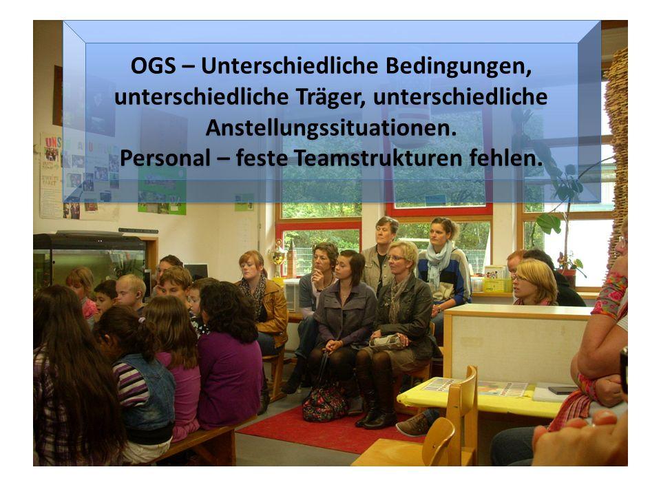 OGS – Unterschiedliche Bedingungen, unterschiedliche Träger, unterschiedliche Anstellungssituationen.