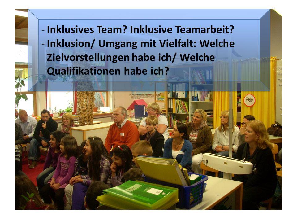 -Inklusives Team. Inklusive Teamarbeit.