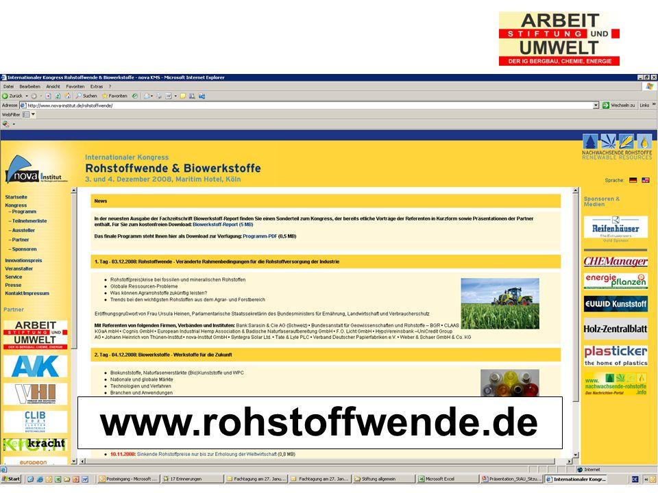 Stiftung Arbeit und Umwelt der IG BCE www.rohstoffwende.de