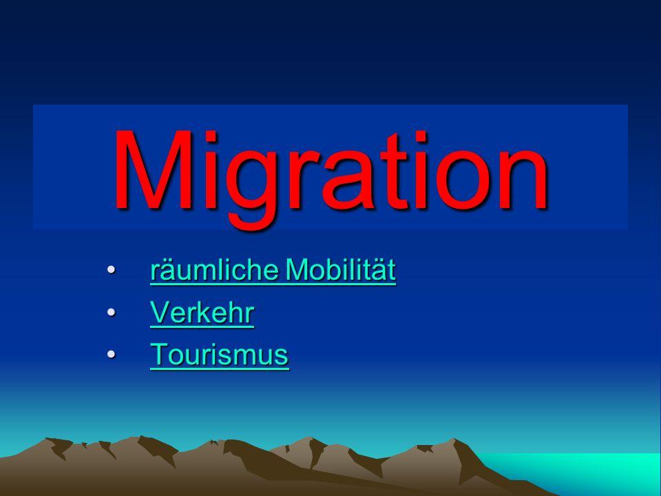 Migration, Wanderung ist ein unterschiedlich gefasster Begriff für den dauerhaften Wechsel des Lebensumfeldes einer Person, einer Gruppe oder einer Gesellschaft im geographischen und sozialen Raum.