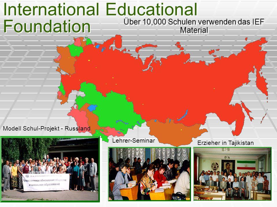 Über 10,000 Schulen verwenden das IEF Material International Educational Foundation Modell Schul-Projekt - Russland Lehrer-Seminar Erzieher in Tajikis