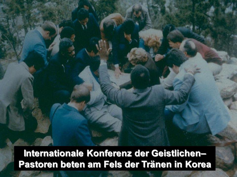 Internationale Konferenz der Geistlichen– Pastoren beten am Fels der Tränen in Korea