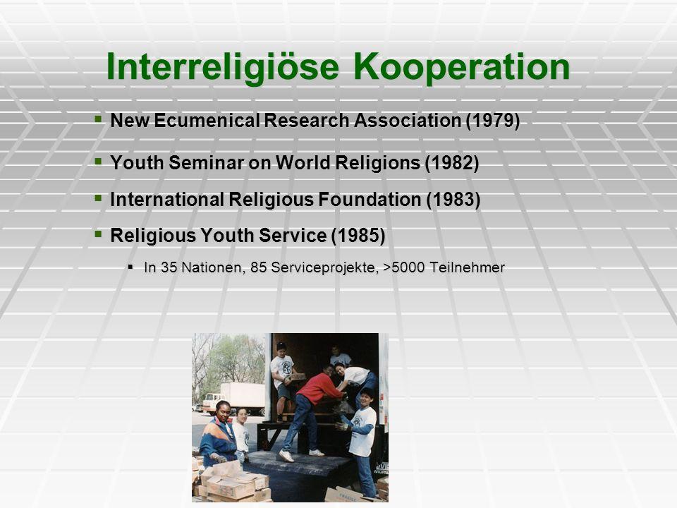 Interreligiöse Kooperation New Ecumenical Research Association (1979) New Ecumenical Research Association (1979) Youth Seminar on World Religions (198