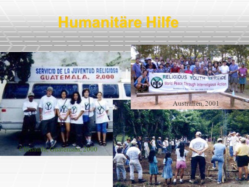 Humanitäre Hilfe Chinautla, Guatemala, 2000 Australien, 2001