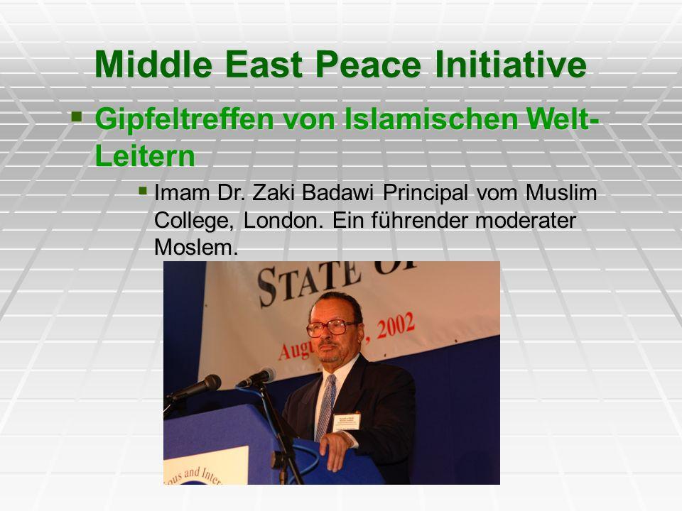Gipfeltreffen von Islamischen Welt- Leitern Gipfeltreffen von Islamischen Welt- Leitern Imam Dr. Zaki Badawi Principal vom Muslim College, London. Ein