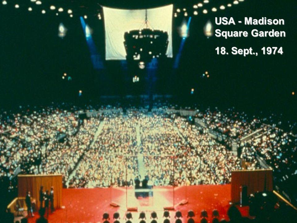 USA - Madison Square Garden 18. Sept., 1974