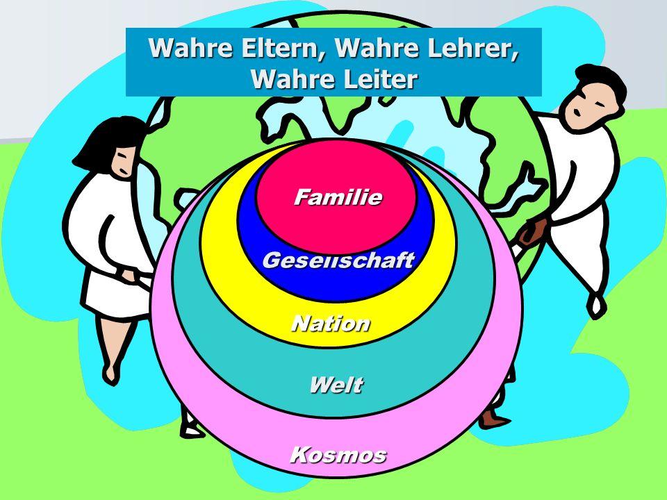 KosmosWeltNationGesellschaft Wahre Eltern, Wahre Lehrer, Wahre Leiter Familie