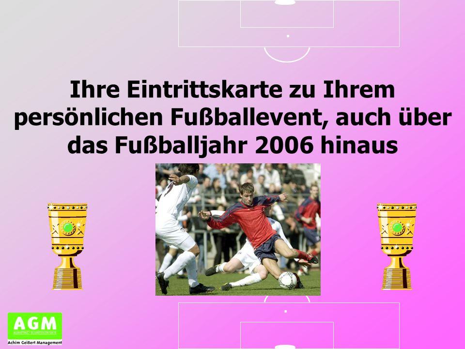 Ihre Eintrittskarte zu Ihrem persönlichen Fußballevent, auch über das Fußballjahr 2006 hinaus..