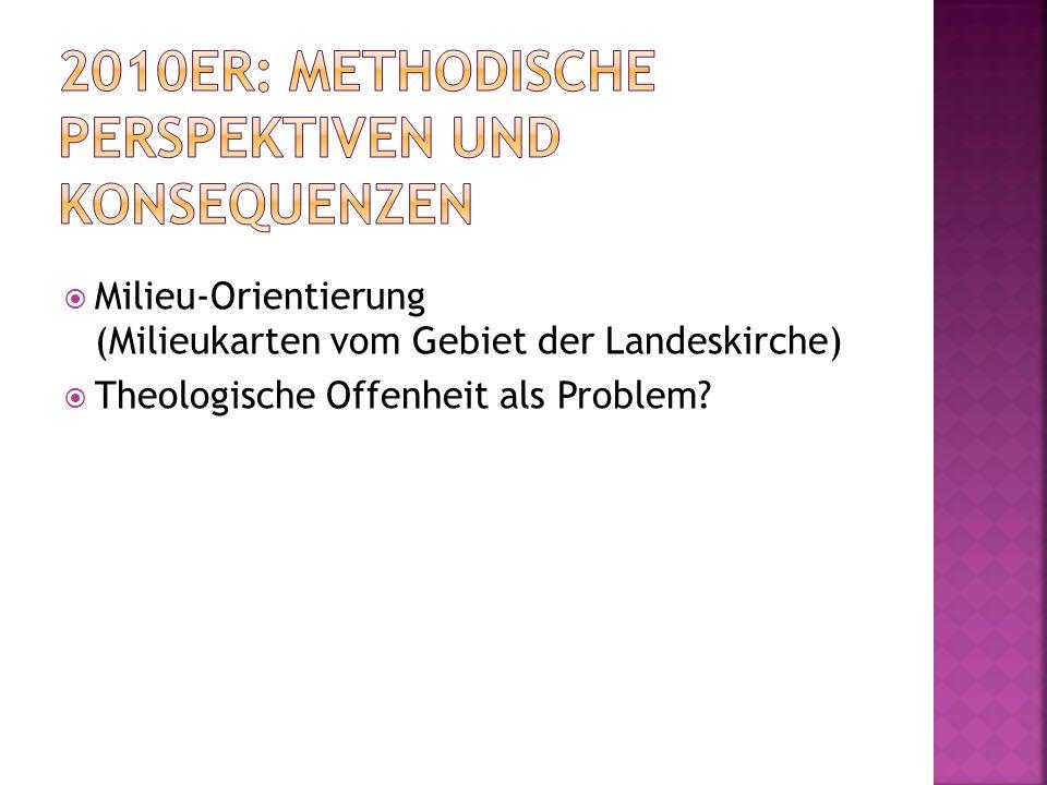 Milieu-Orientierung (Milieukarten vom Gebiet der Landeskirche) Theologische Offenheit als Problem?