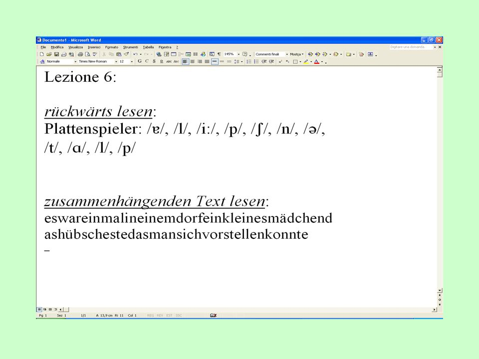 Lezione 7: Phago-Phonetik + Zungenbrecher gr. phagein mangiare