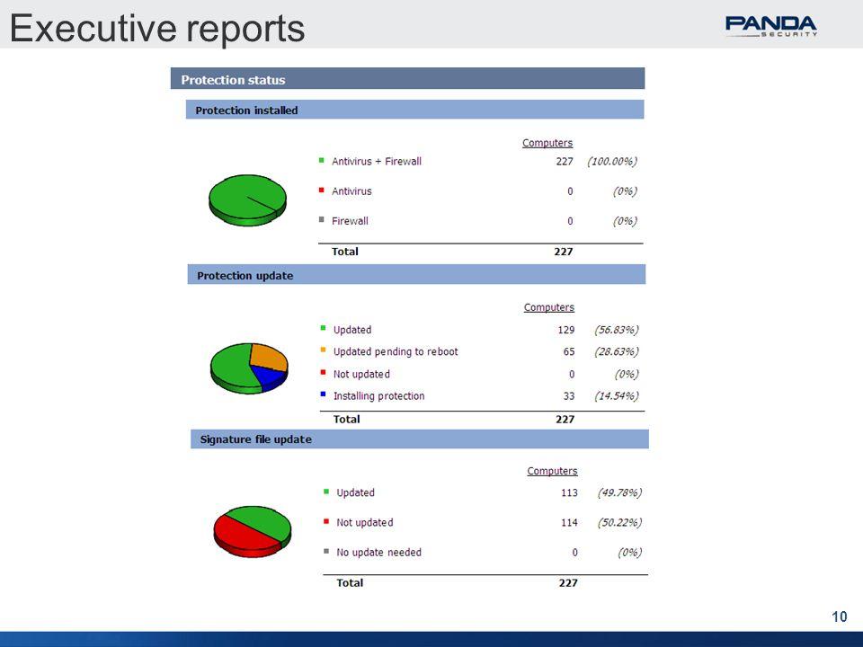 10 Executive reports