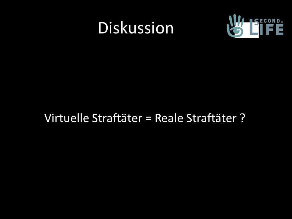 Diskussion Virtuelle Straftäter = Reale Straftäter