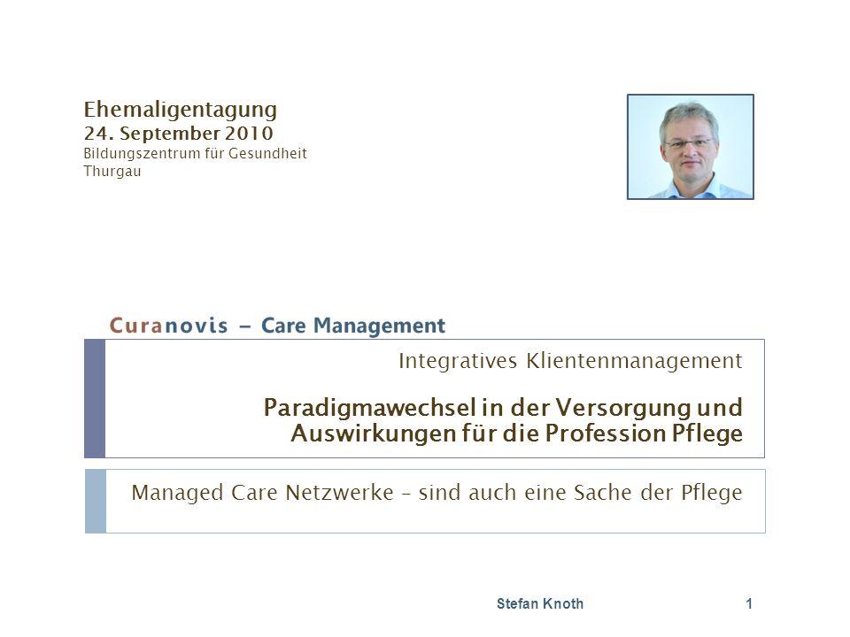 Inhalt Stefan Knoth 2 Gesundheitsversorgung 2007/2008 Herausforderungen heute und morgen Gesundheitsversorgung morgen Paradigmawechsel für die Versorgung Paradigmawechsel für die Pflege Diskussion und Fragen: laufend
