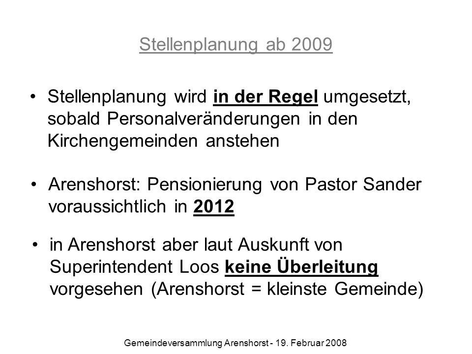 Gemeindeversammlung Arenshorst - 19. Februar 2008
