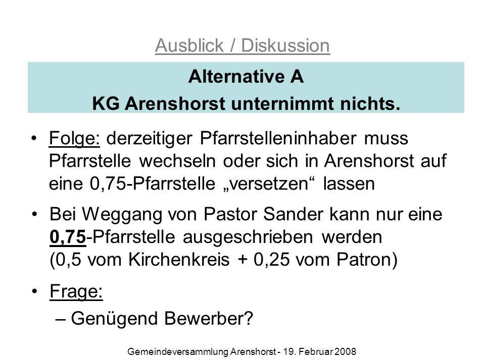 Gemeindeversammlung Arenshorst - 19.
