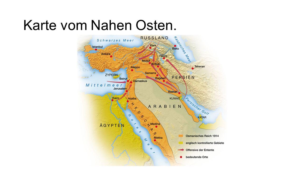 Karte vom Nahen Osten.