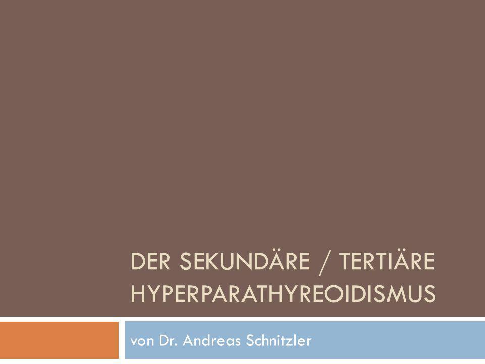 DER SEKUNDÄRE / TERTIÄRE HYPERPARATHYREOIDISMUS von Dr. Andreas Schnitzler