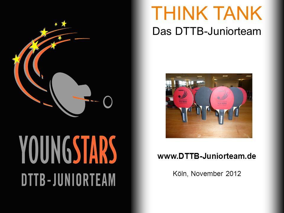 Das DTTB- Juniorteam Ziele Projekte Termine Andere JTs Kontakt Inhalt Das DTTB-Juniorteam Ziele Projekte Workshops Termine 2012 und 2013 Kontakt Das DTTB-Juniorteam Stuttgart, 04.