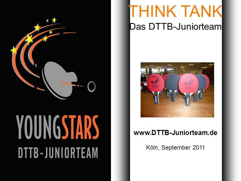 Das DTTB- Juniorteam Ziele Projekte Termine Andere JTs Kontakt Nacht der Bälle DTTB-JuniorteamKöln, September 2011 Hüttlingen – 19.