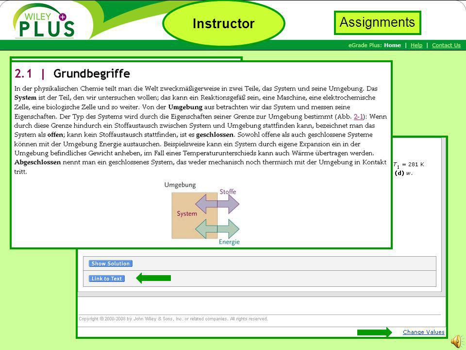 Generate questions Assign to class Aufgabenpool Instructor Assignments
