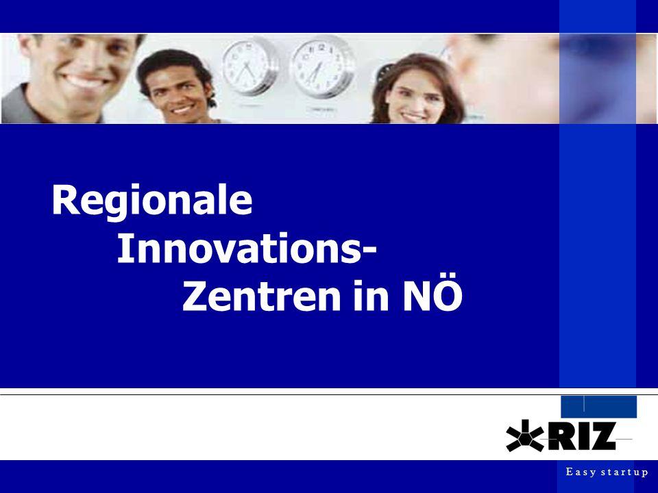 E a s y s t a r t u p Easy networking Mitglied im europaweiten Netzwerk EBN (European Business and Innovation Centre Network) VTÖ- Mitglied Informationsdrehscheibe zu Fördergebern, Bildungs- und Forschungseinrichtungen, Unternehmen, Finanziers