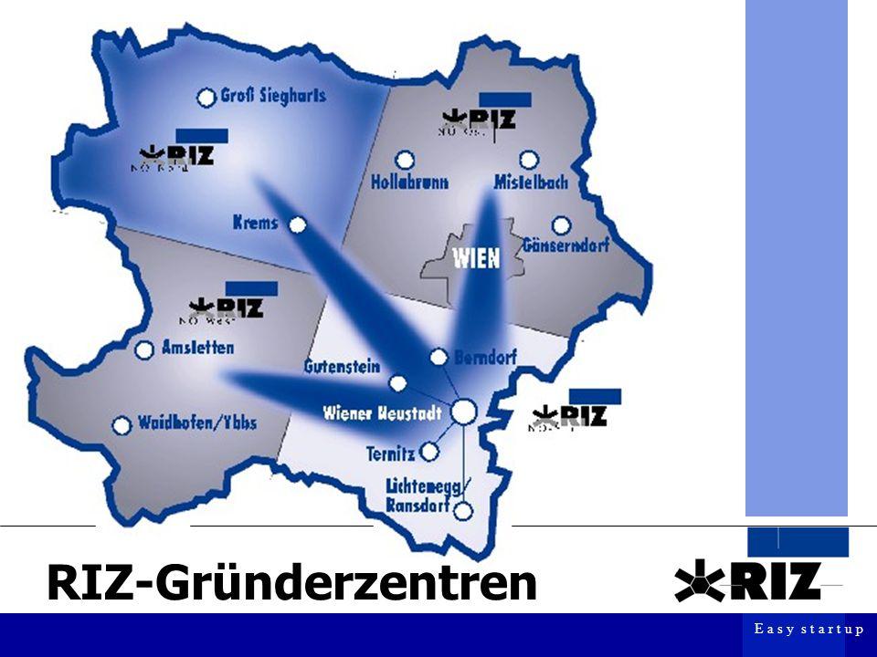 E a s y s t a r t u p RIZ-Gründerzentren