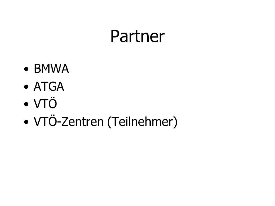 Partner BMWA ATGA VTÖ VTÖ-Zentren (Teilnehmer)