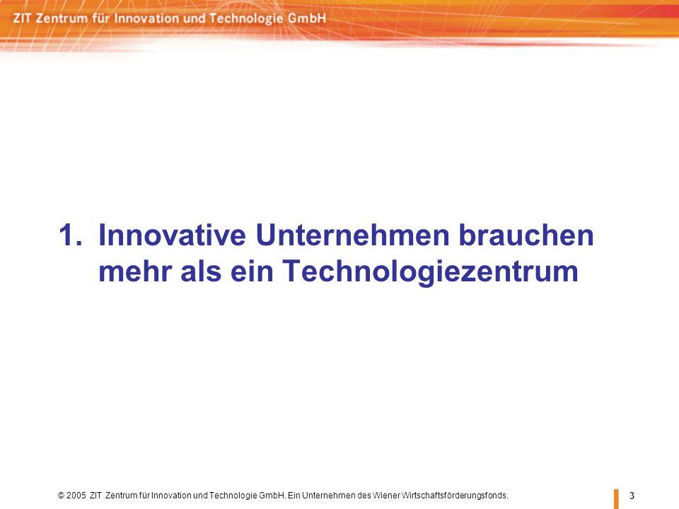 3 1.Innovative Unternehmen brauchen mehr als ein Technologiezentrum