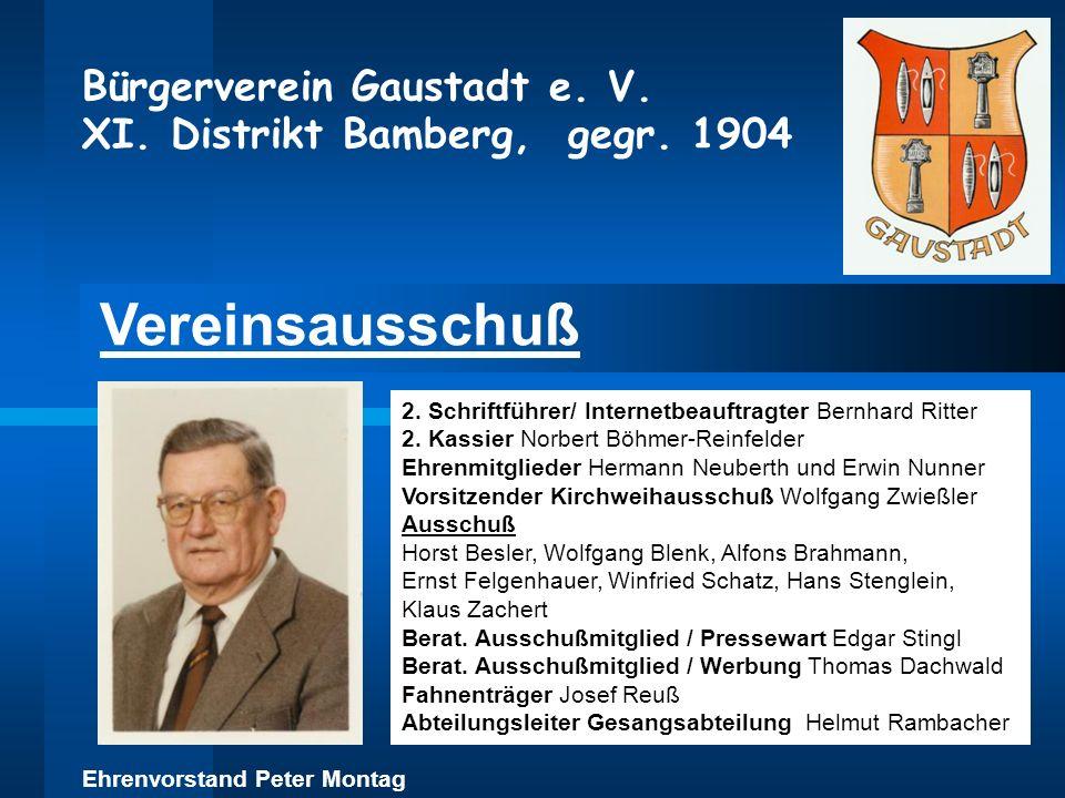 Vereinsausschuß 2. Schriftführer/ Internetbeauftragter Bernhard Ritter 2. Kassier Norbert Böhmer-Reinfelder Ehrenmitglieder Hermann Neuberth und Erwin