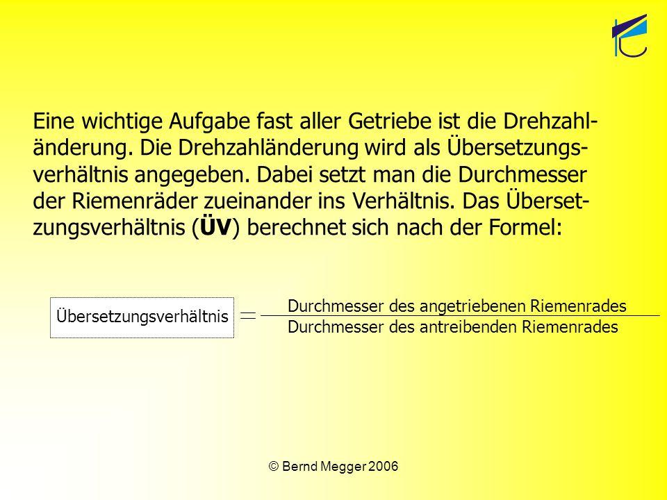 © Bernd Megger 2006 Abtriebsrad 15 mm Antriebsrad 45 mm Beispiel: