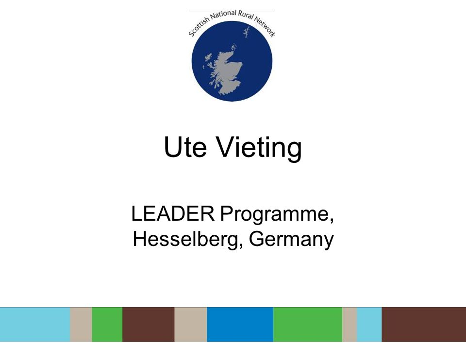 Ute Vieting LEADER Programme, Hesselberg, Germany