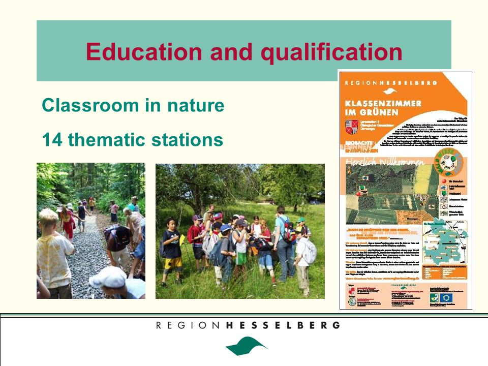 Classroom in nature 14 thematic stations Education and qualification