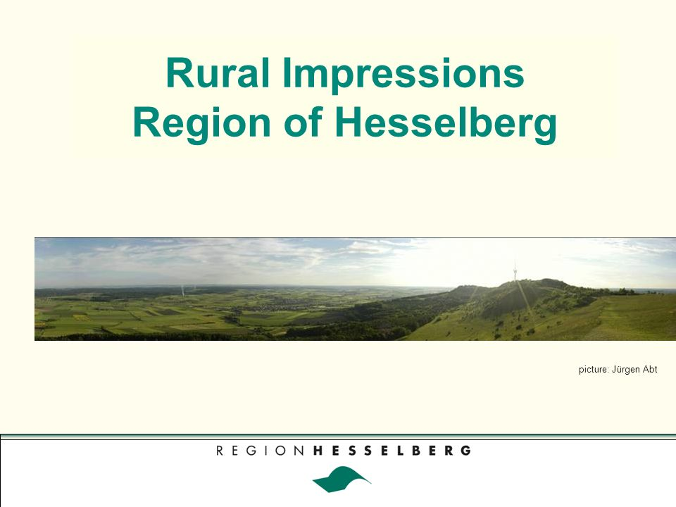 Rural Impressions Region of Hesselberg picture: Jürgen Abt