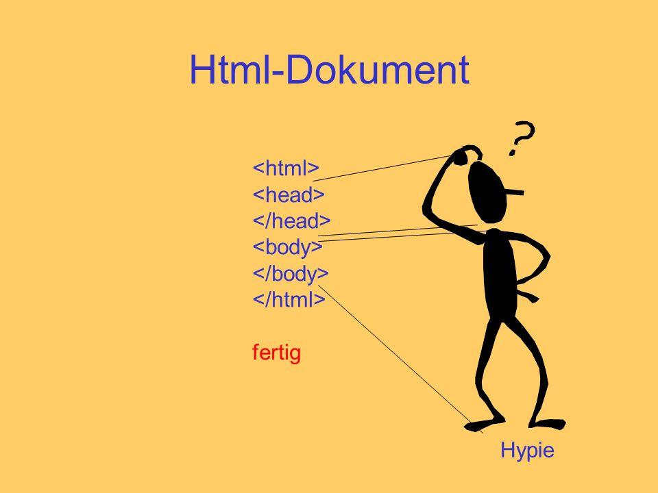 Html-Dokument Hypie fertig