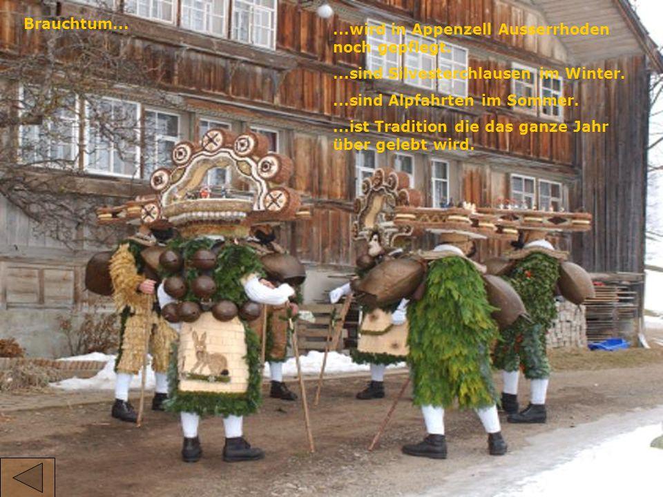 Brauchtum......wird in Appenzell Ausserrhoden noch gepflegt....sind Silvesterchlausen im Winter....sind Alpfahrten im Sommer....ist Tradition die das ganze Jahr über gelebt wird.