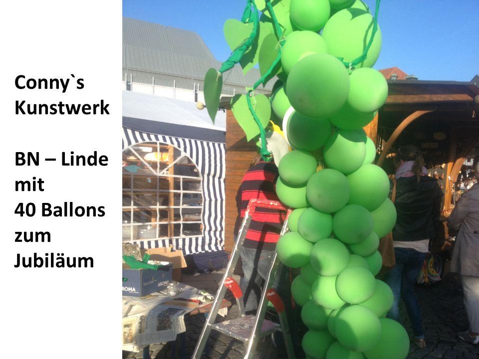 Conny`s Kunstwerk BN – Linde mit 40 Ballons zum Jubiläum