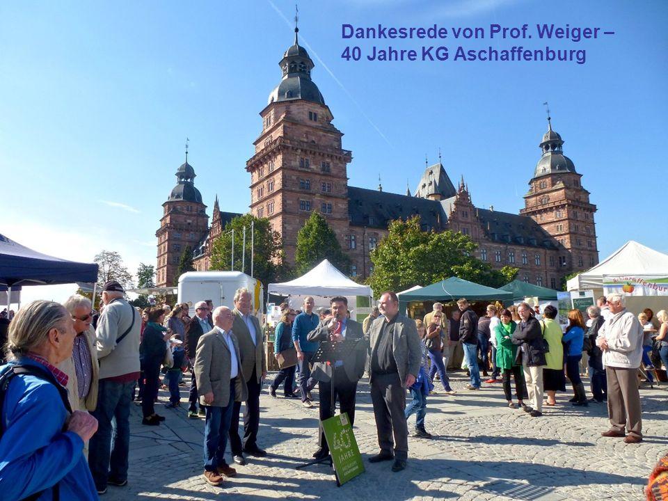 Dankesrede von Prof. Weiger – 40 Jahre KG Aschaffenburg